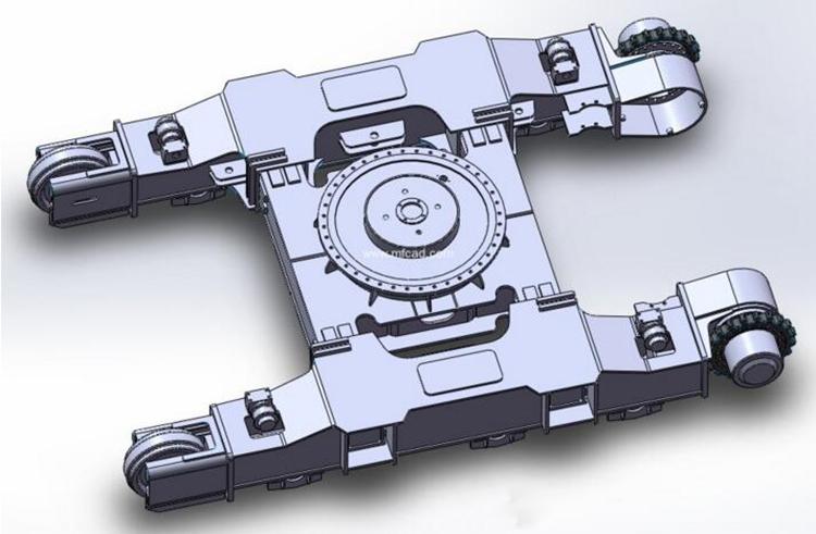 底盘作为旋挖机行走结构件,质量非常重要