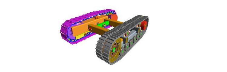 旋挖钻机行走零部件:底盘图片