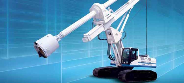 旋挖钻机配备不同的旋挖钻斗可在各种地层施工