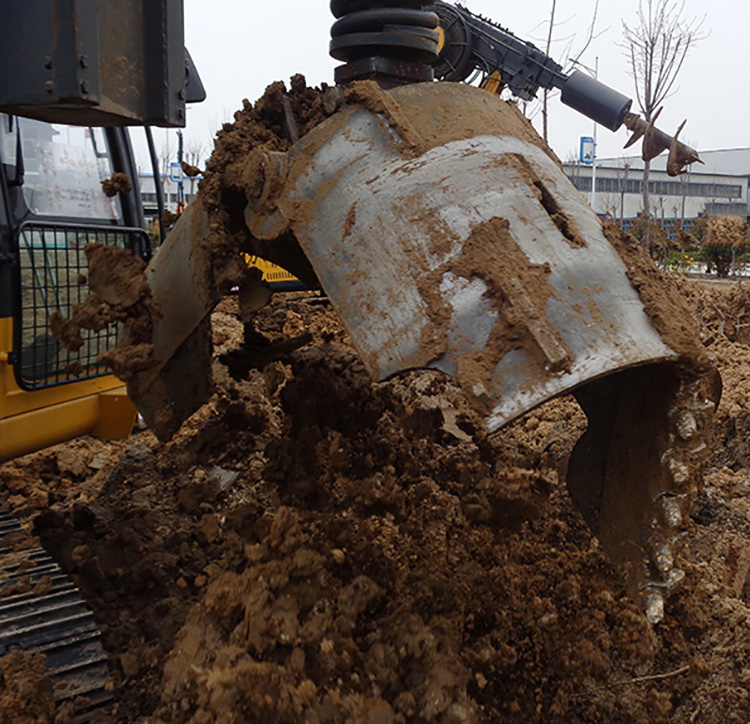 旋挖机糊钻的解决方法可用分体式钻头