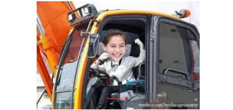 旋挖钻机女司机照片